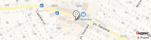 Магазин мясной продукции на карте Краснослободска