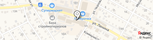 Краснослободское на карте Краснослободска