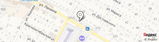 СТО дорог на карте Краснослободска