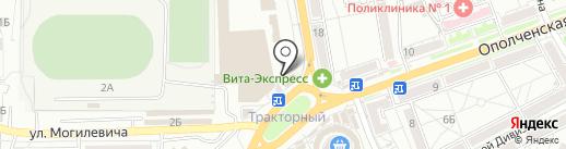 Магазин фастфудных изделий на карте Волгограда