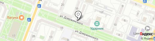 Дзержинец на карте Волгограда