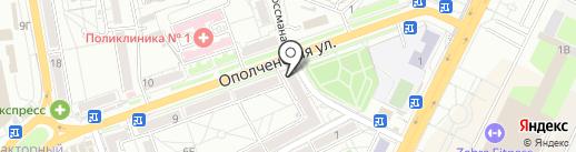 Три Карася на карте Волгограда