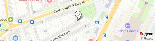 Креветка на карте Волгограда