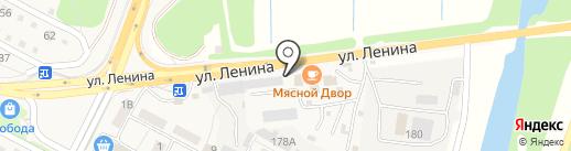 Окунь на карте Краснослободска