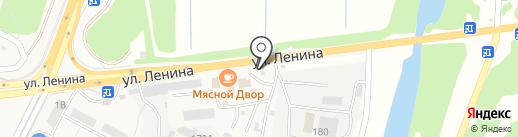 Рыболов на карте Краснослободска