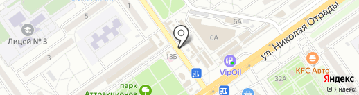 Киоск фастфудной продукции на карте Волгограда