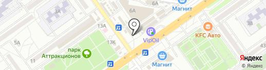 Магазин хлебобулочных изделий на карте Волгограда