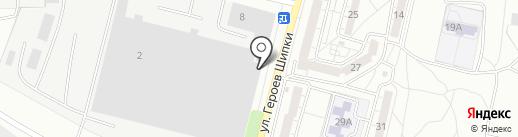 Биония на карте Волгограда