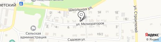 Продуктовый магазин на ул. Мелиораторов на карте Клетского