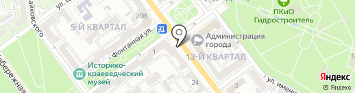 Цветы на проспекте на карте Волжского