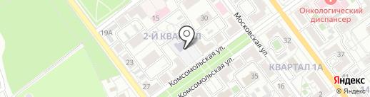 Православный приход храма преподобного Амвросия Оптинского на карте Волжского