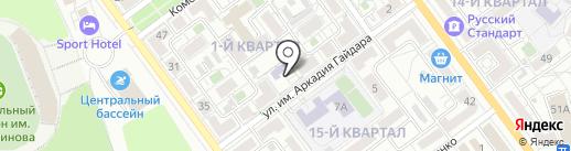 Средняя общеобразовательная школа №10 на карте Волжского