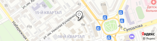 Рыбный магазин на карте Волжского