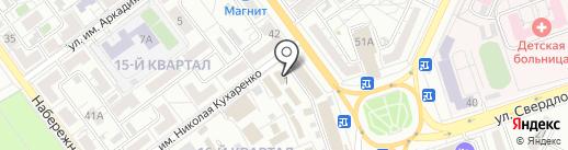 Магазин рыбной и мясной продукции на карте Волжского