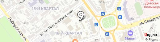 Колхозный рынок на карте Волжского