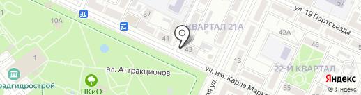 Козерог на карте Волжского