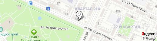 Магазин бытовой химии на карте Волжского