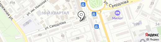 Ломбард Кристалл на карте Волжского