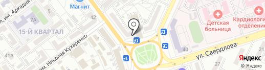 Скрепка на карте Волжского