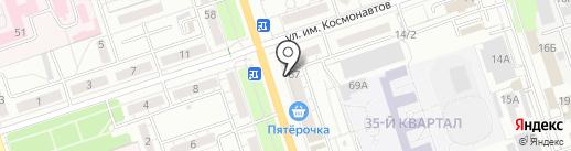 Магазин мужской одежды на карте Волжского