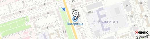 Магазин верхней одежды на карте Волжского