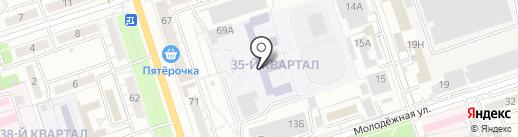 Банкомат, Московский Индустриальный Банк, Волгоградский филиал на карте Волжского