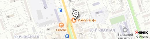 Лабиринт на карте Волжского