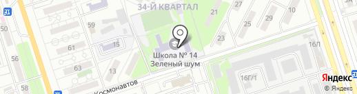 Средняя общеобразовательная школа №14, Зеленый шум на карте Волжского