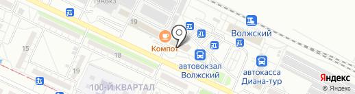Волжское ДРСУ на карте Волжского