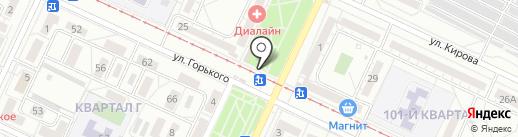 Мясокур на карте Волжского