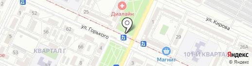 Киоск по продаже цветов на карте Волжского
