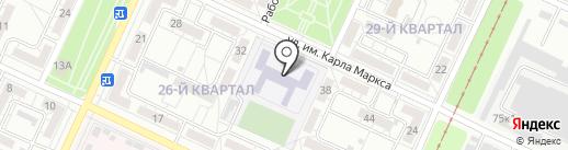 Средняя общеобразовательная школа №13 на карте Волжского