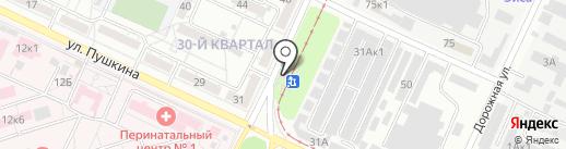 Продовольственный магазин на карте Волжского