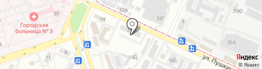 Автоком на карте Волжского