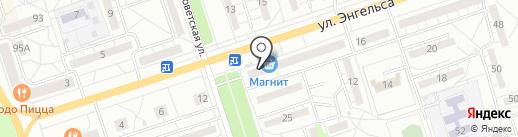 Аптека на Энгельса на карте Волжского