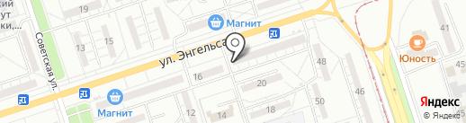 Мимоза на карте Волжского