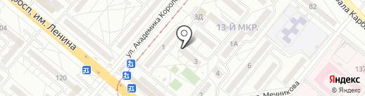 Кега на карте Волжского