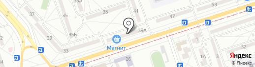 Смаковница на карте Волжского
