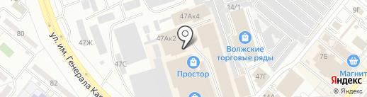 Волжский Мебельный Комбинат, ЗАО на карте Волжского