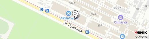 Светофор на карте Волжского