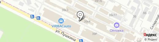 Крепость на карте Волжского