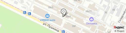 Планета Люстр на карте Волжского
