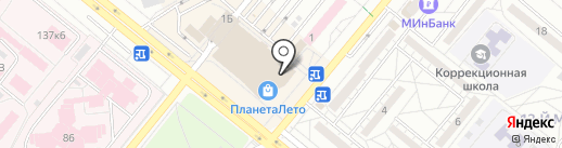 Перекресток на карте Волжского