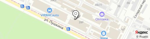 Мозаика на карте Волжского