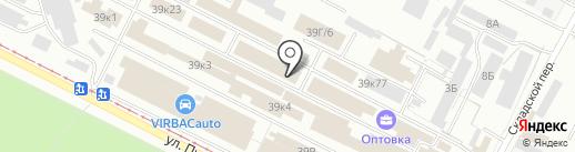 Покровъ на карте Волжского