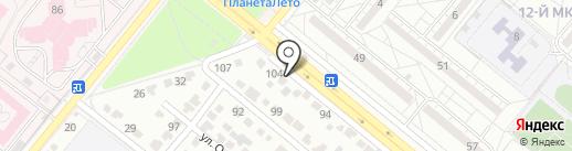 Магазин аккумуляторов на карте Волжского