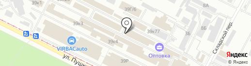 Деколарт на карте Волжского