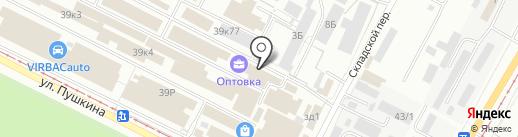 Метизофф на карте Волжского
