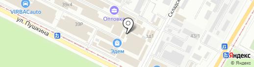 Русалка на карте Волжского
