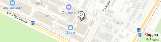 Магазин текстиля на карте Волжского